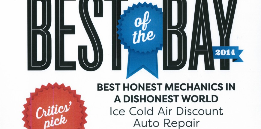 Best of the Bay 2014 Certificate
