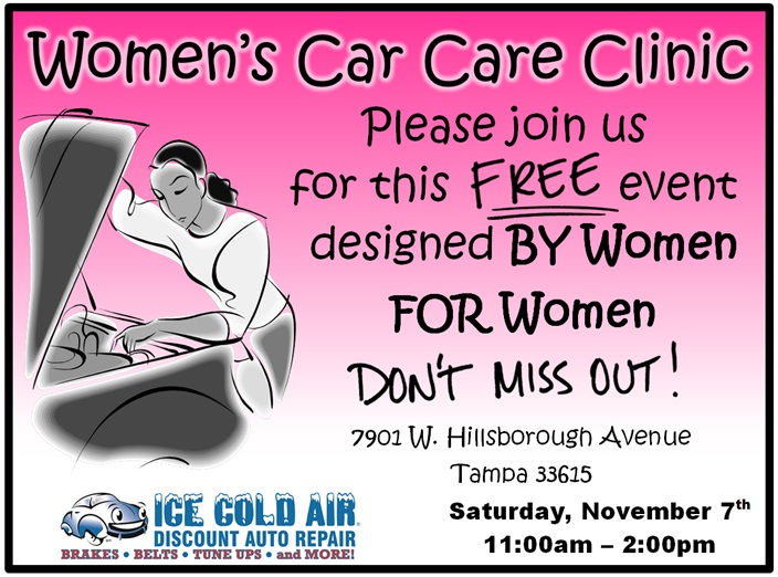 Womens Car Care Clinic Ad